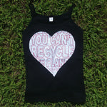 One of a Kind (Women's L) Heart REUSE! Patch Tank Top