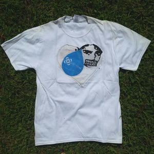 One of a Kind (Men's M) Heart Patch Water Face T-Shirt