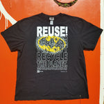 One of a Kind (Men's XL) REUSE! Roughed Up Bat Dude Logo T-Shirt
