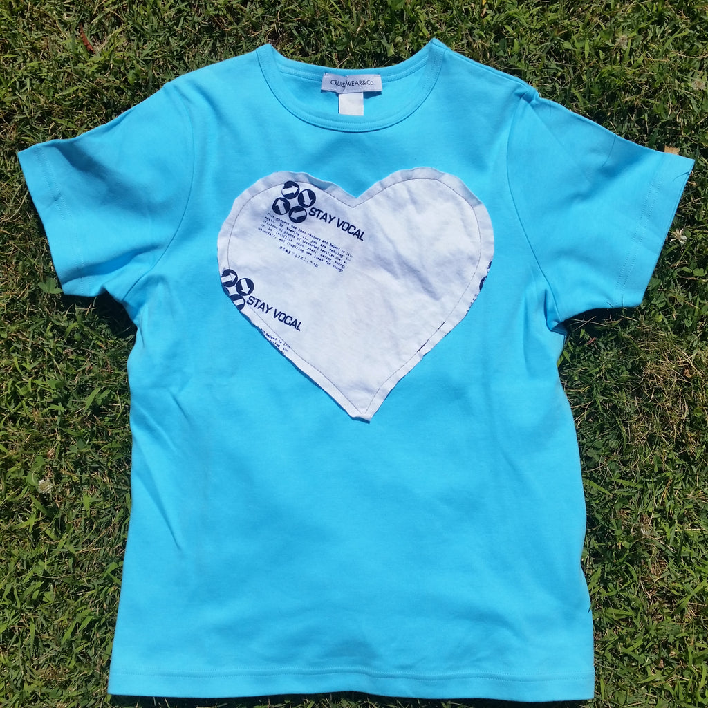 One of a Kind (Women's S) Heart Logo Patch T-Shirt