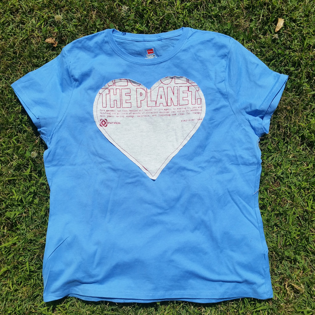 One of a Kind (Women's XL) Heart Patch The Planet T-Shirt
