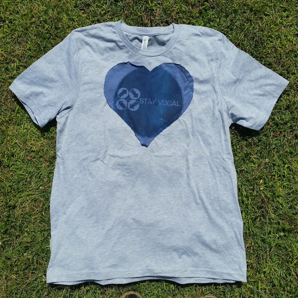 One of a Kind (Men's XL) Heart Patch Circle Logo T-Shirt