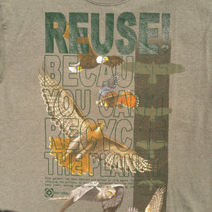 One of a Kind (Men's M) REUSE! Bird Army T-Shirt