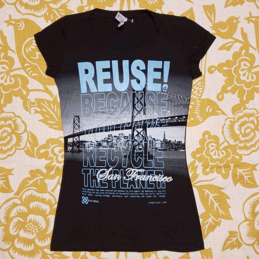 One of a Kind (Women's M) REUSE! The San Francisco Bridge T-Shirt