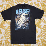 One of a Kind (Men's M) REUSE! Vintage Sparkly Heron T-Shirt