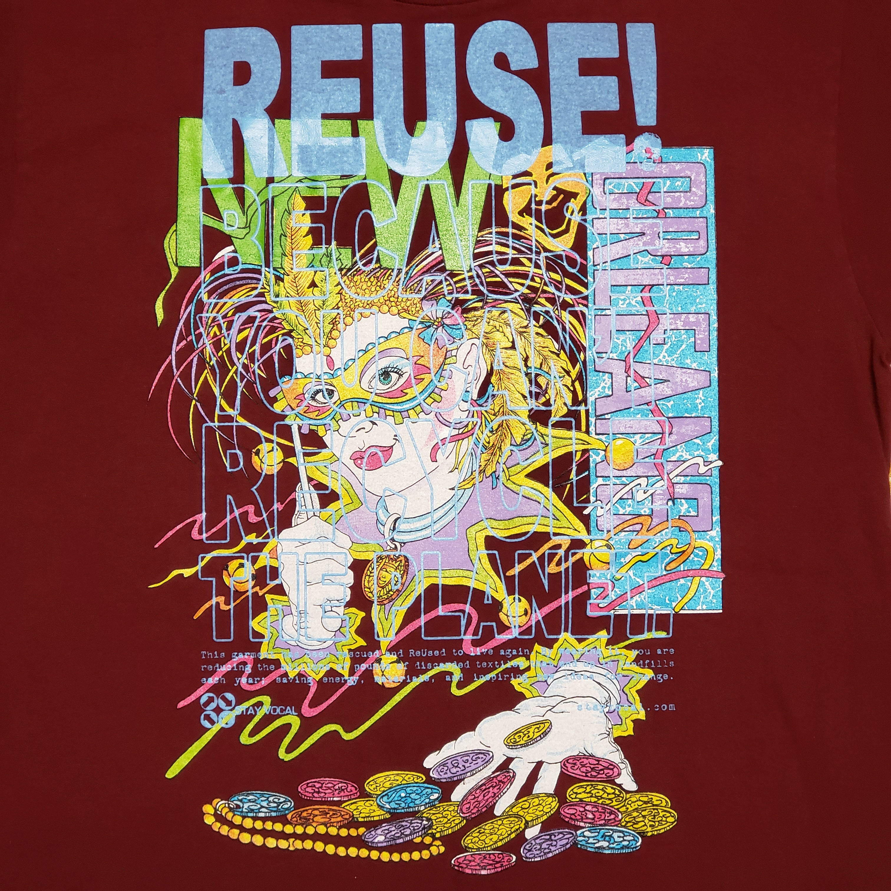 One of a Kind (Men's L) Vintage REUSE! at Mardi Gras in New Orleans T-Shirt