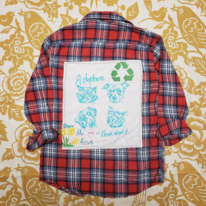 One of a Kind (Women's L) Share The Love Flannel by Carly Carte