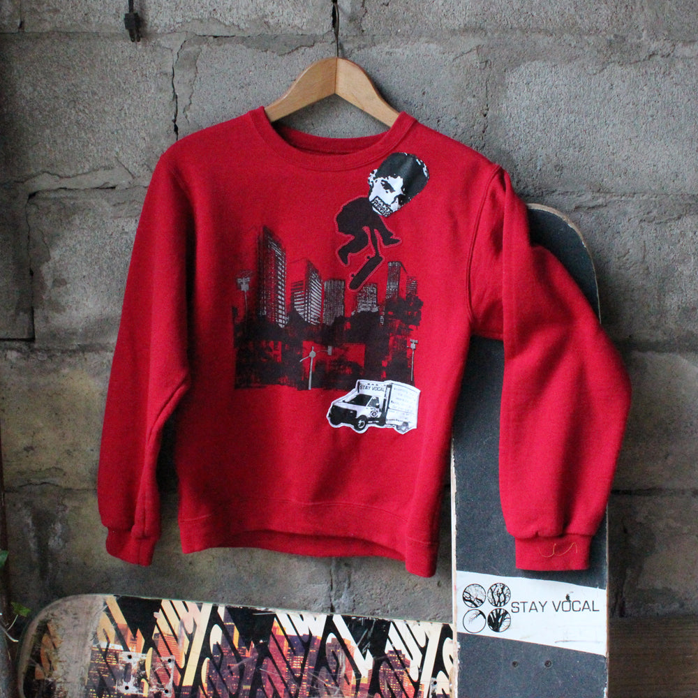 One of a Kind (Kids L/XL, 14/16) Fingerflip City Crew Neck Sweatshirt