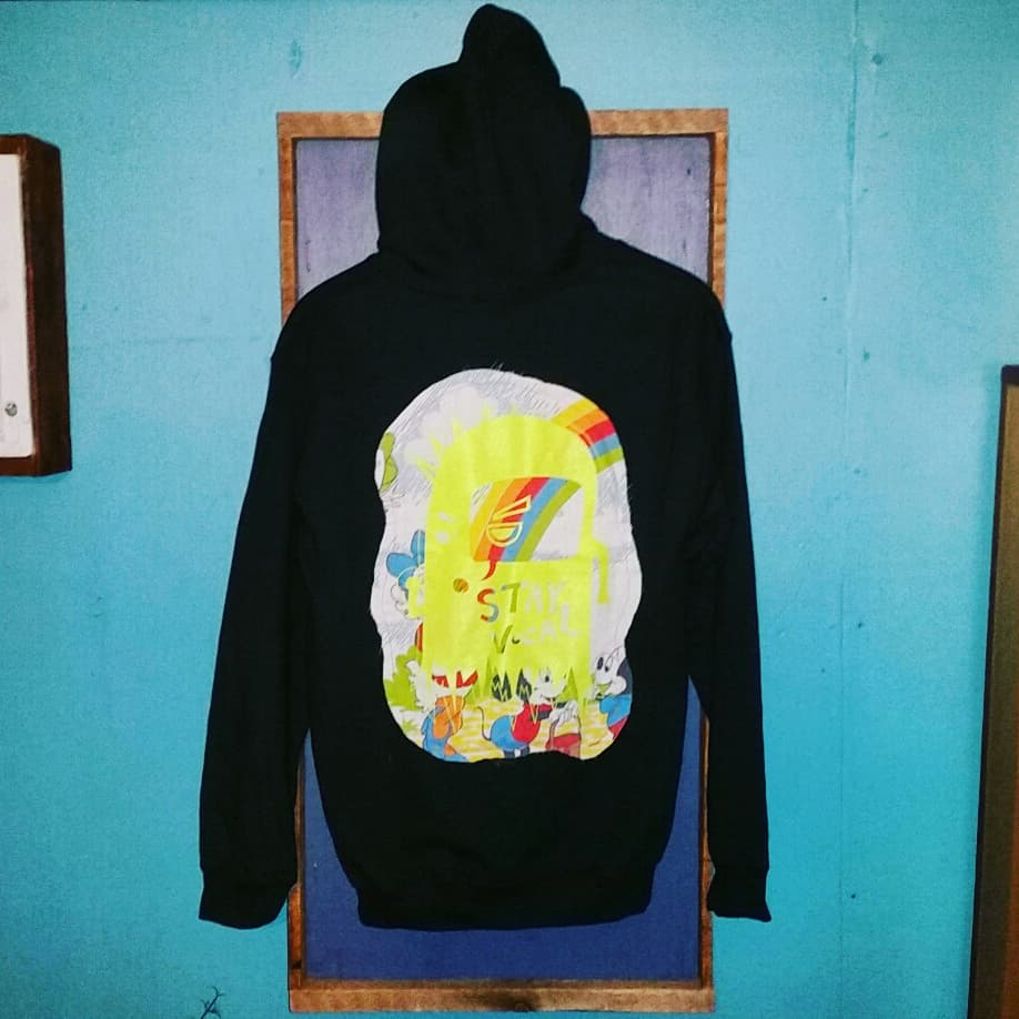 One of a Kind (Men's S) Ghost of Deek Rainbow Mouse Hooded Sweatshirt