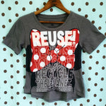 One of a Kind (Women's XS) REUSE! Lady Mouse Face T-Shirt