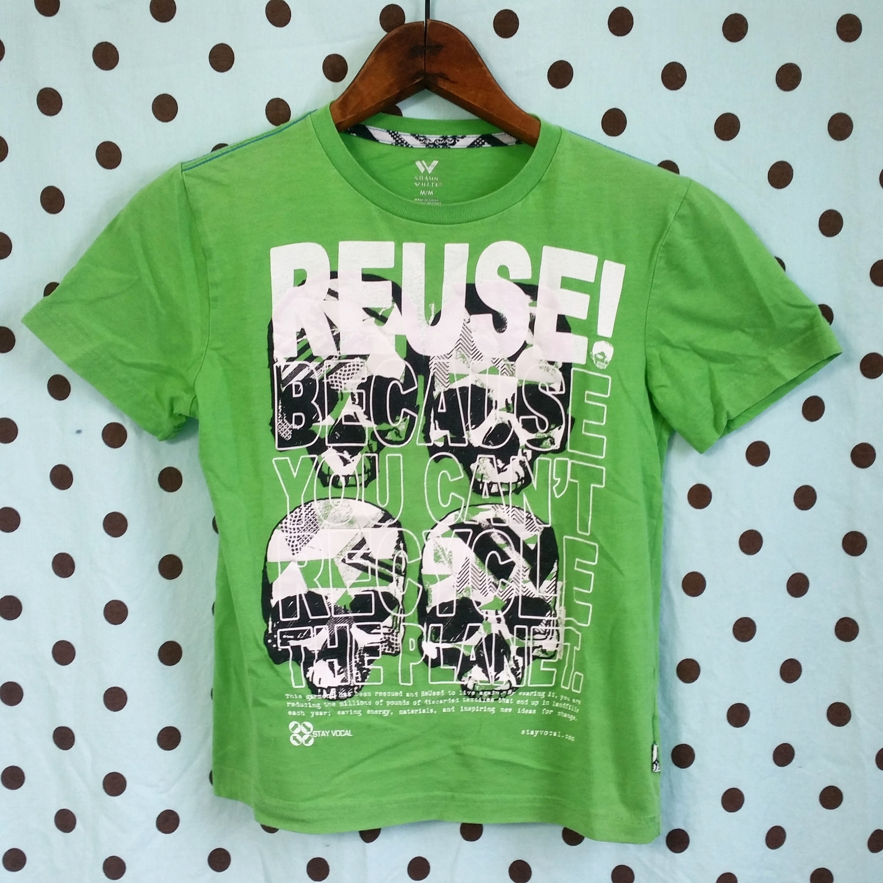One of a Kind (Kids M) REUSE! Four Skull T-Shirt