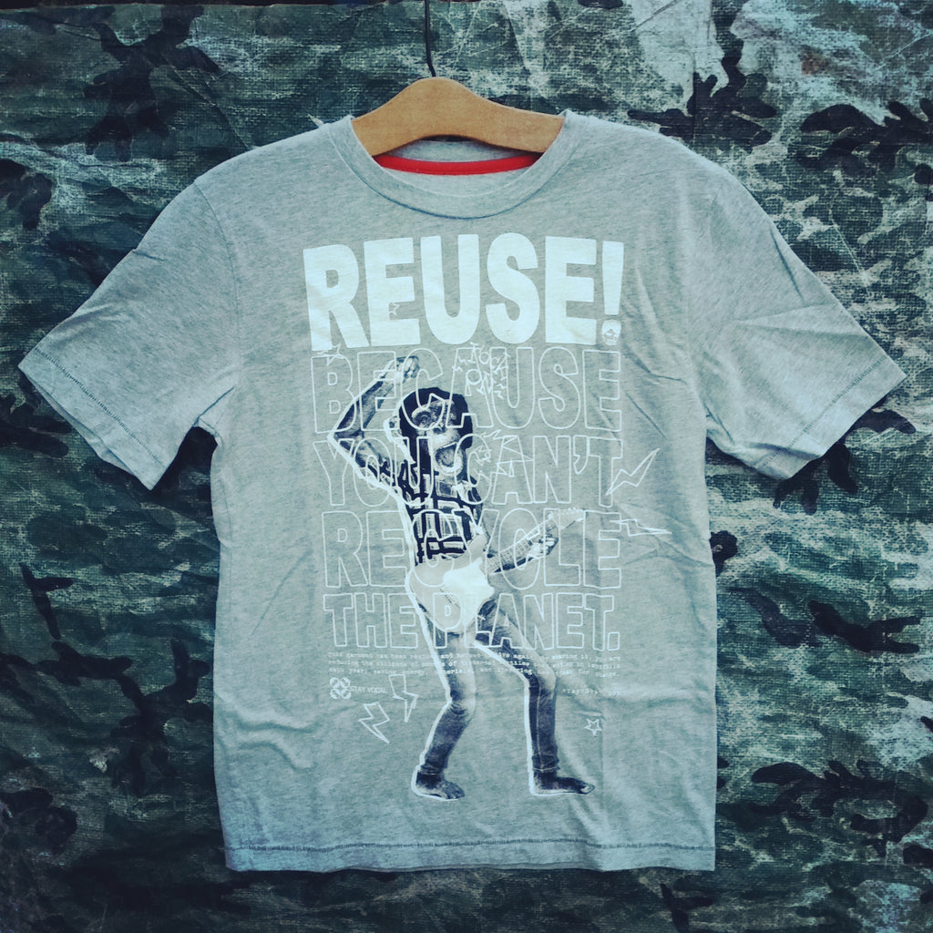 One of a Kind (Kids L) REUSE! Monkeys Rock T-Shirt
