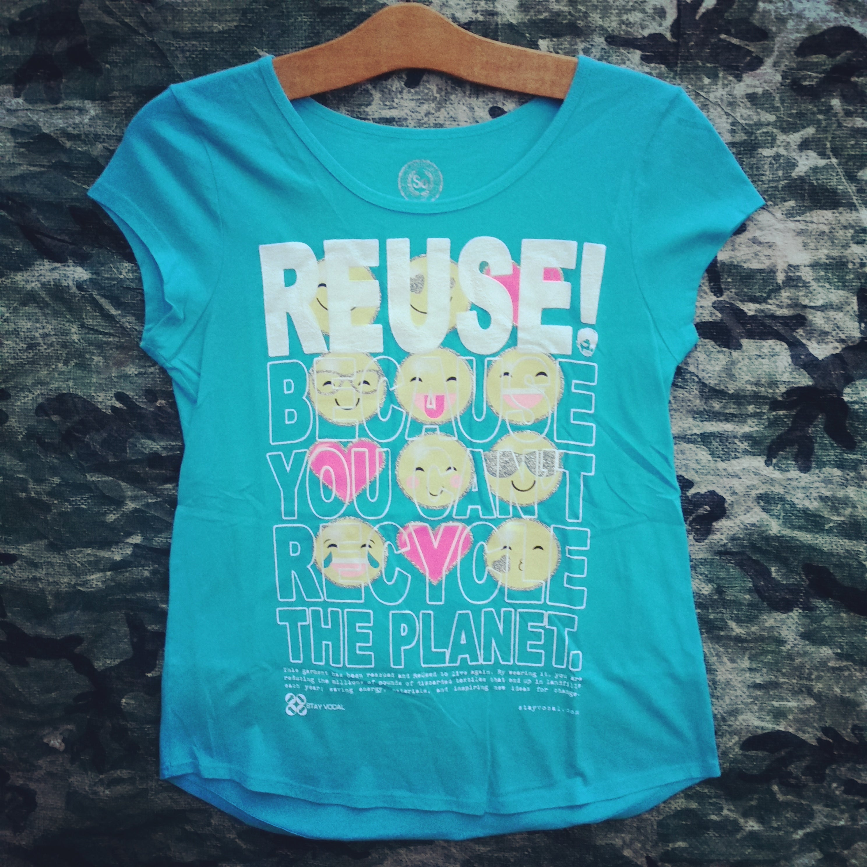 One of a Kind (Women's M) REUSE! Love Emojis T-Shirt