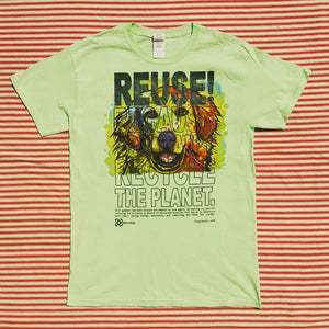 One of a Kind (Men's M) REUSE! Green Golden T-Shirt