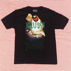 One of a Kind (Men's XL) REUSE! King Sloth T-Shirt