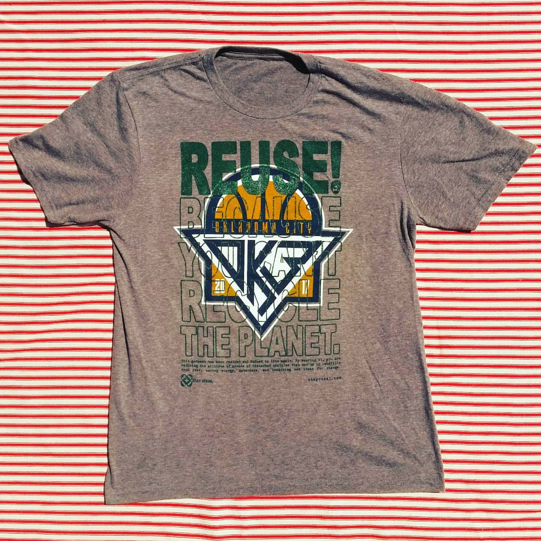 One of a Kind (Men's L) REUSE! Oklahoma City Not The Sonics T-Shirt