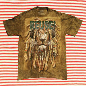 One of a Kind (Men's M) REUSE! Lion Dreads T-Shirt