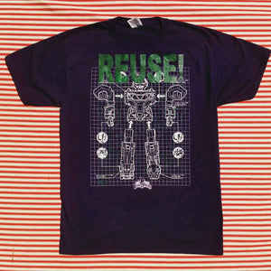 One of a Kind (Men's M) REUSE! Mighty Morphing Robot T-Shirt