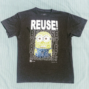 One of a Kind (Men's M) REUSE! Nervous Yellow Guy T-Shirt