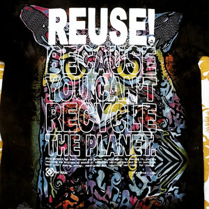 One of a Kind (Men's S) REUSE! Colorful Owl T-Shirt