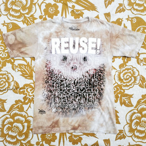 One of a Kind (Kids L) REUSE! Hedgehog Head T-Shirt