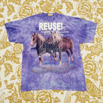 One of a Kind (Men's XXL) REUSE! Galloping Horses T-Shirt