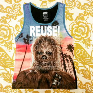 One of a Kind (Men's XL) REUSE! Wookiee Beach Tank Top
