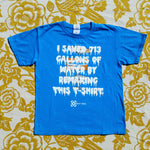One of a Kind (Kids M) I Saved 713 Sharks T-Shirt