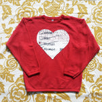 One of a Kind (Men's S) Heart Patch Human Crewneck Sweatshirt