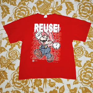 One of a Kind (Men's L) REUSE! Super Plumber 2 T-Shirt