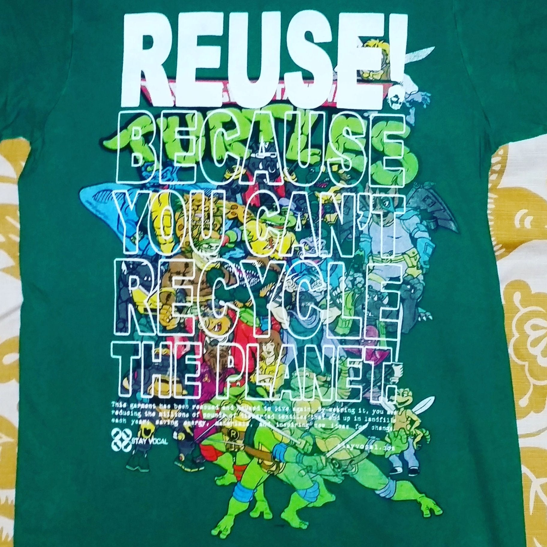 One of a Kind (Men's S) REUSE! Young Reptiles & Friends T-Shirt