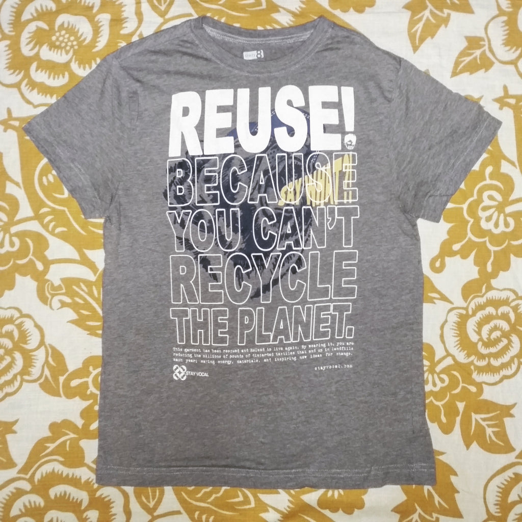 One of a Kind (Kid's XL) REUSE! Say What? Bear T-Shirt