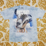 One of a Kind (Men's L) REUSE! Goat Face T-Shirt