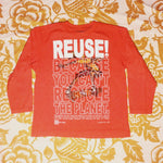 One of a Kind (Kid's M) REUSE! Shreddin' Dude Long Sleeve T-Shirt
