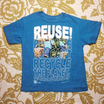 One of a Kind (Kid's M) REUSE! Crafting Mines Guy T-Shirt