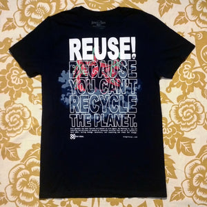 One of a Kind (Men's M) REUSE! Attack on Waste T-Shirt