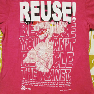 One of a Kind (Women's M) REUSE! Insulation Dude T-Shirt