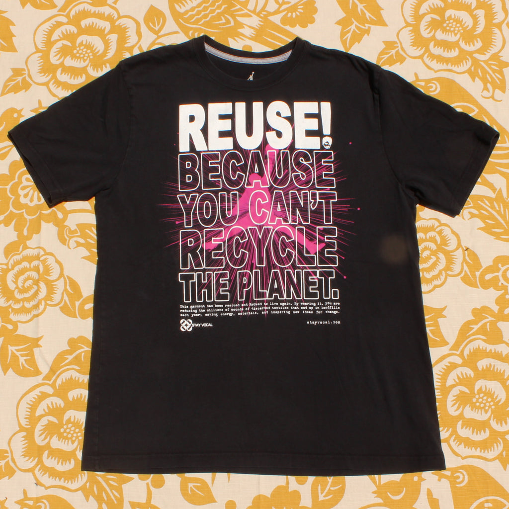 One of a Kind (Men's XL) Air REUSE! Pink Explosion T-Shirt