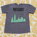 One of a Kind (Men's XL) REUSE! Crafting Mines Skyline T-Shirt