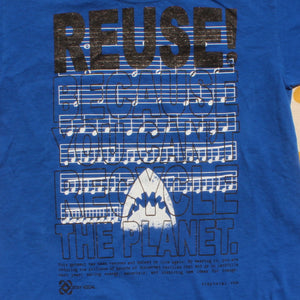 One of a Kind (Kid's M) REUSE! Shark Approach Music T-Shirt