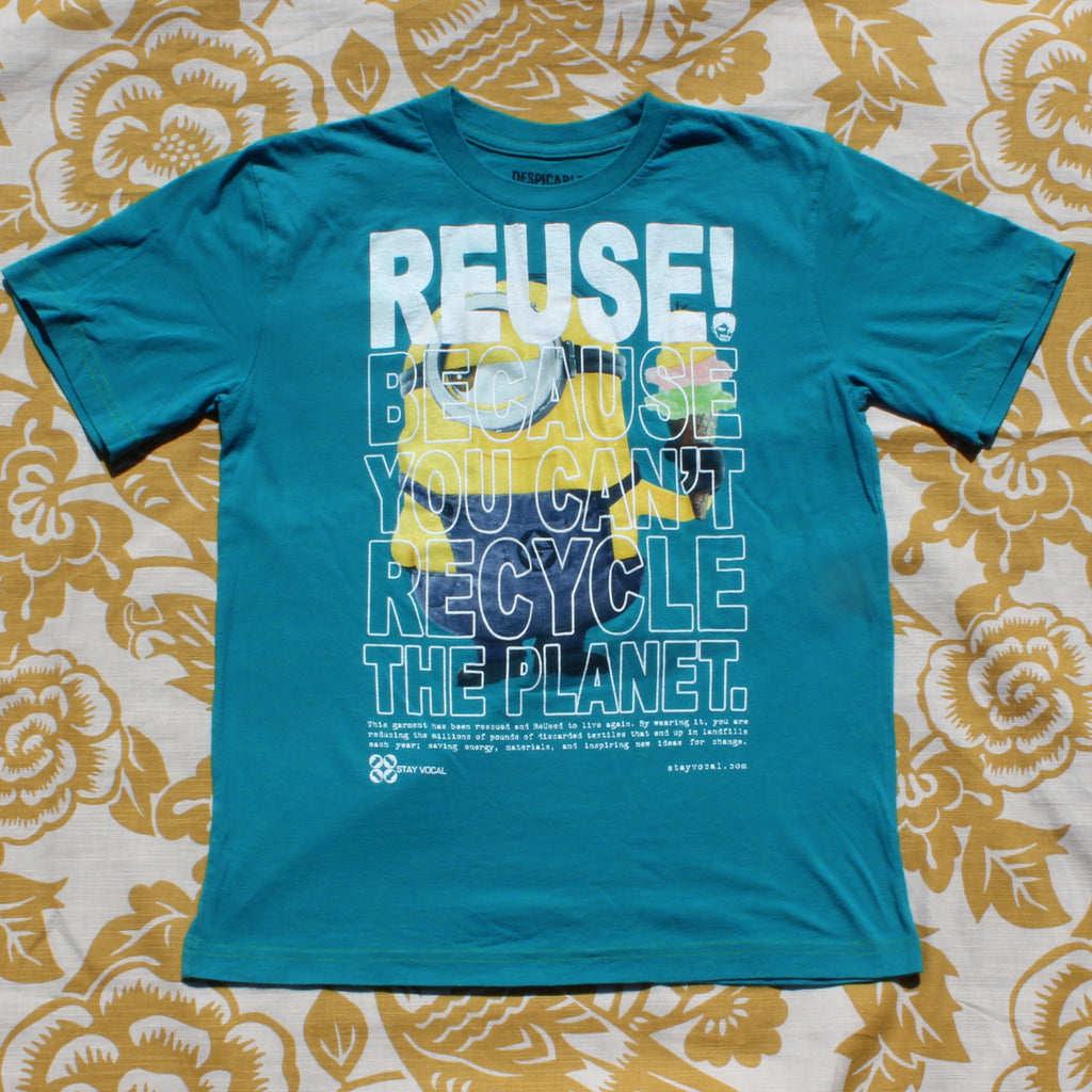 One of a Kind (Kid's L) REUSE! Yellow Guy with a Triple Scoop T-Shirt