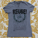 One of a Kind (Women's L) REUSE! Boston Basketball Logo Grey T-Shirt