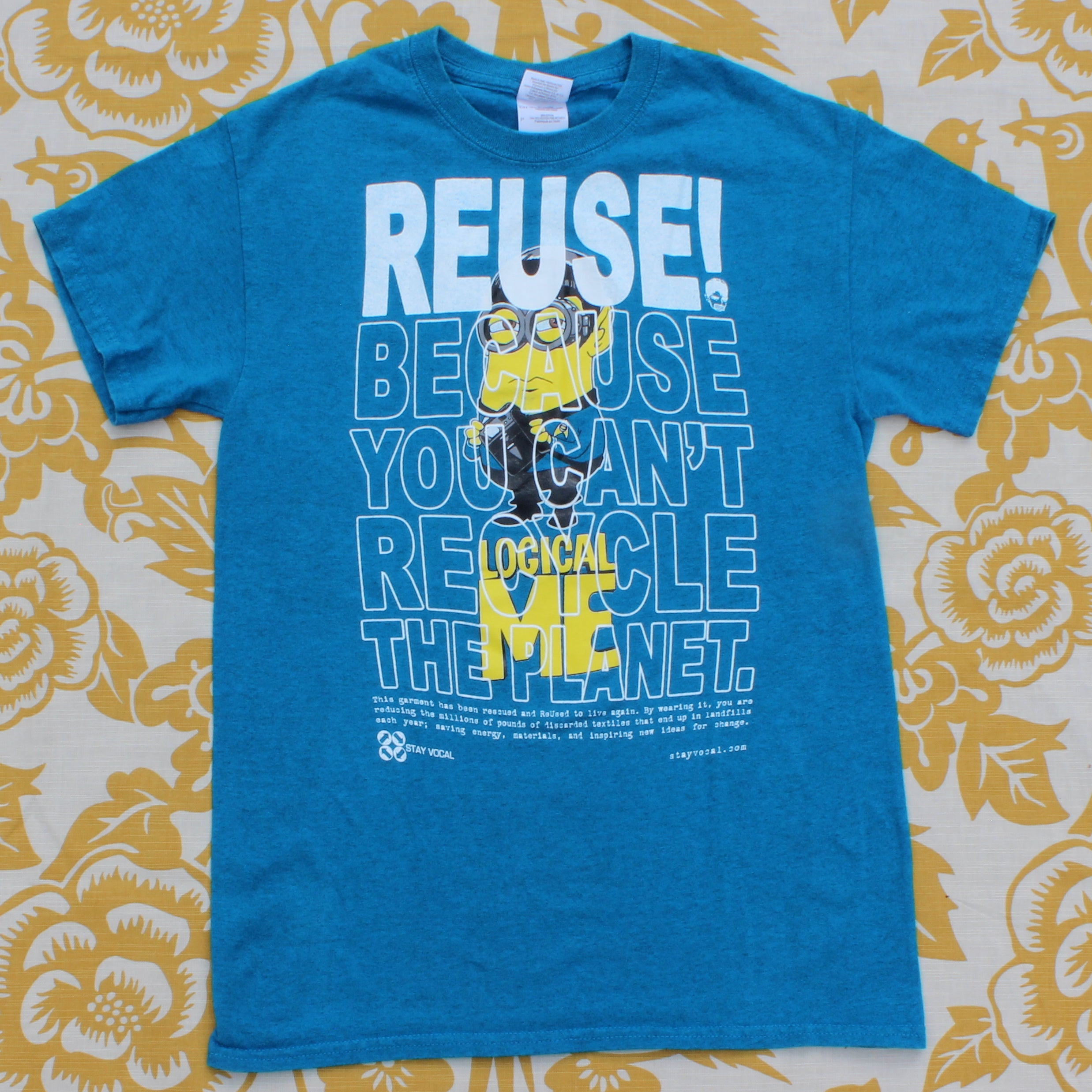 One of a Kind (Men's S) REUSE! Trekky Yellow Guy T-Shirt