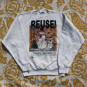 One of a Kind (Men's M) REUSE! Famous Snowman & Son Crewneck Sweatshirt