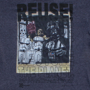 One of a Kind (Men's M) REUSE! War In The Stars Polaroid T-Shirt