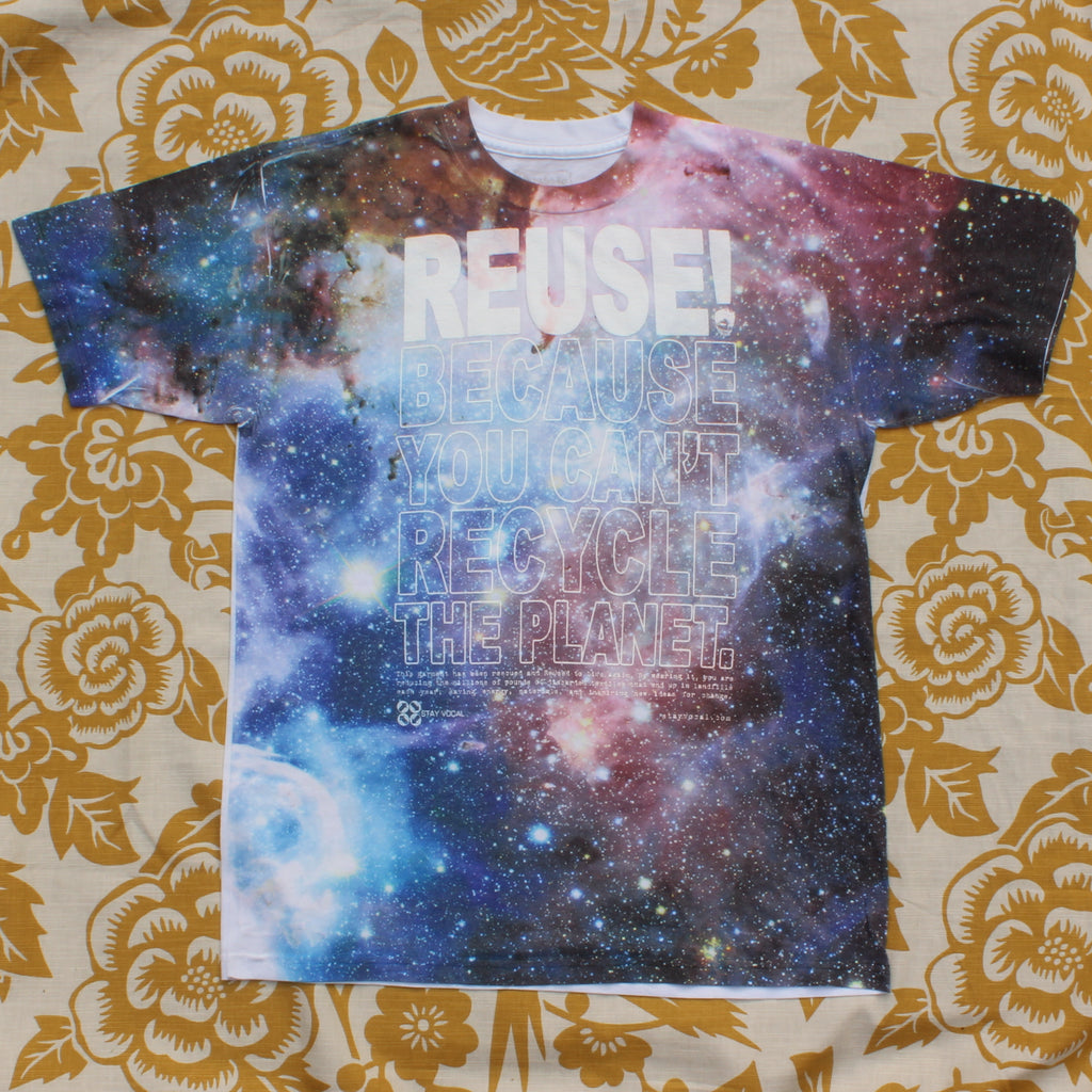 One of a Kind (Men's M) REUSE! The Universe T-Shirt