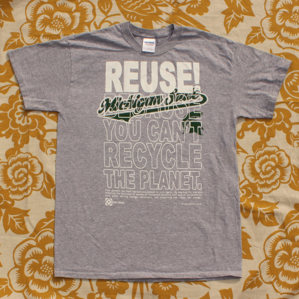 One of a Kind (Men's M) REUSE! Spartan School in Michigan T-Shirt