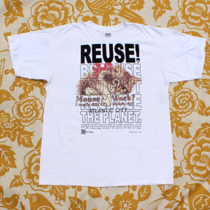 One of a Kind (Men's L) REUSE! Do The Mouse Work, Kitten T-Shirt