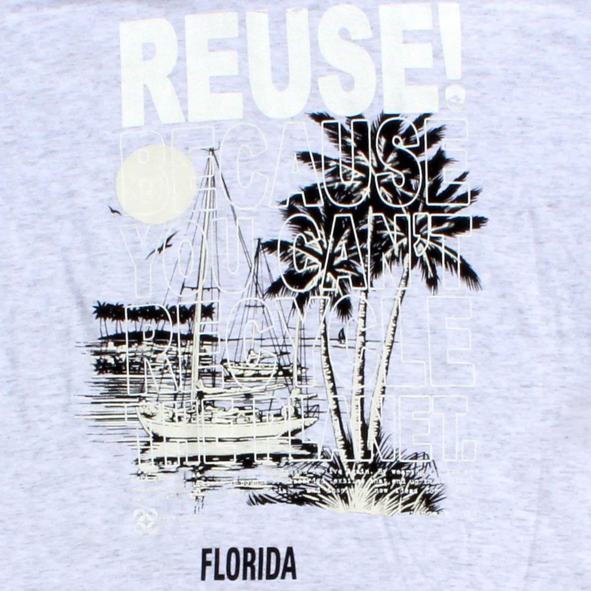 One of a Kind (Men's L) REUSE! Vintage Sailing in Florida T-Shirt