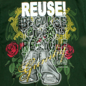 One of a Kind (Men's L) REUSE! Cool Green Clay Dude T-Shirt